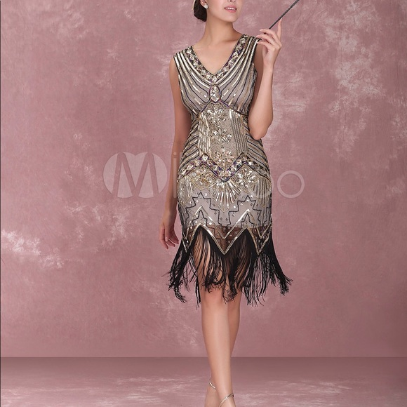 4e0777007752 Metme 20 s Gatsby Flapper Dress